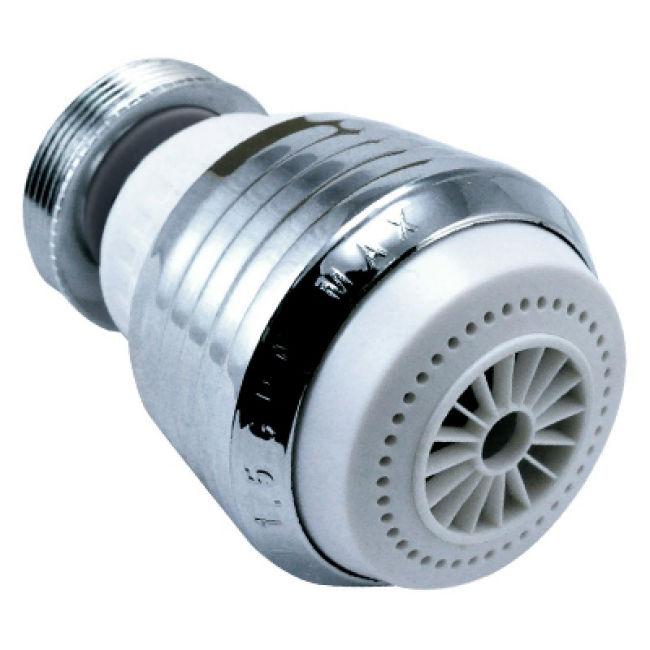 Chrome faucet aerator