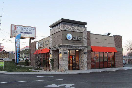 Exterior of ATT store in Louisville, KY